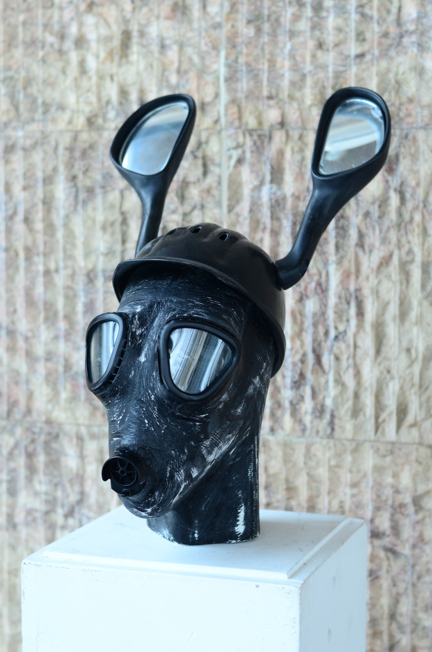 Apocalyptic Rider deer head sculpture