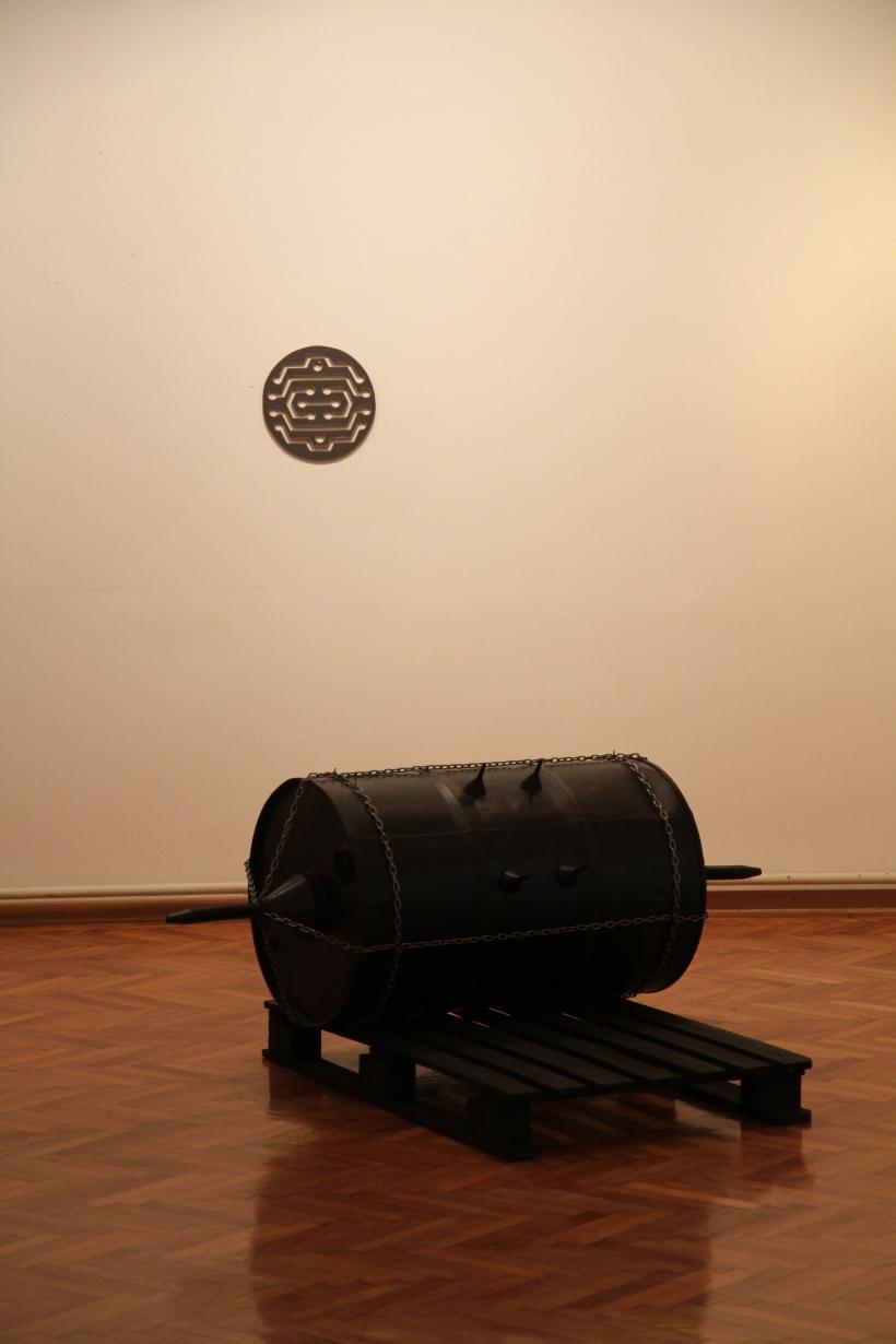 Industrial Melanism art installation by sculptor Bogdan Dobrota